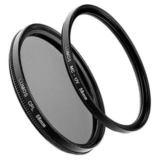 LUMOS Polfilter + MC UV Filter 58mm Set für Canon Objektive