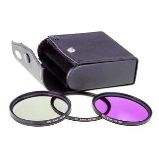 Foto Filterset für Objektive 67mm / UV Filter & Polfilter & FLD Filter & Etui