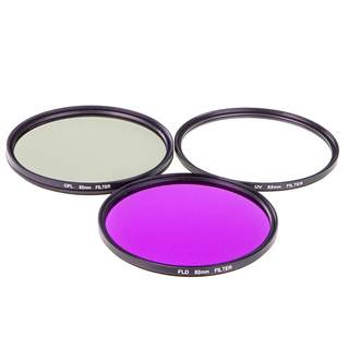 Filterset für Objektive 82mm / UV Filter & Polfilter & FLD Filter & Etui