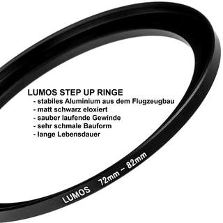 LUMOS step up Filteradapter Ring 72-82 mm