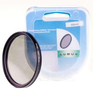 Set mit UV Filter Polfilter Objektivdeckel 58mm