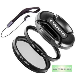 LUMOS FILTER SET 49mm zu Canon - Polfilter UV Filter Objektivdeckel